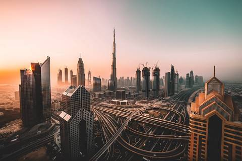 Medium dubai city