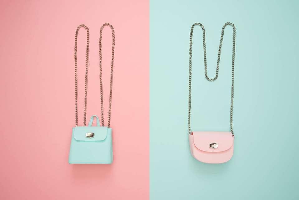 ピンクとグリーンのおすすめのバッグインバッグ