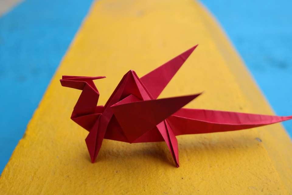 大人向け折り紙で作った恐竜