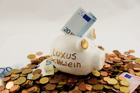 Medium euro seem money finance piggy bank save cent 1