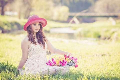 Medium artificial flowers basket beautiful 247943